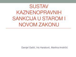 Sustav kaznenopravnih  sankcija u starom i novom zakonu