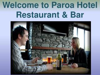 Welcome to Paroa Hotel Restaurant & Bar