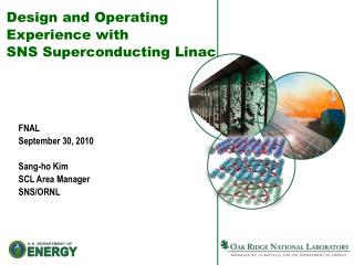Design and Operating  Experience with SNS Superconducting Linac