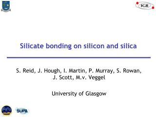 Silicate bonding on silicon and silica