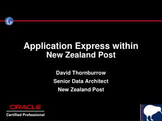 Application Express within New Zealand Post