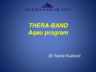 THERA-BAND Aqau program