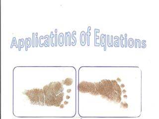 Applications of Equations
