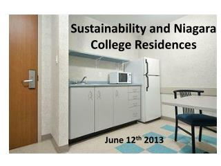 Sustainability and Niagara College Residences