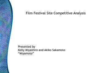 Film Festival Site Competitive Analysis