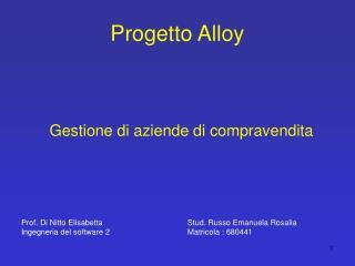 Progetto Alloy
