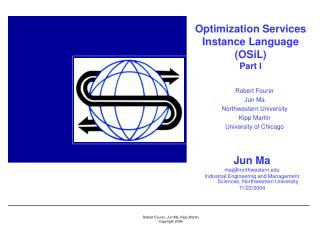 Optimization Services Instance Language (OSiL) Part I