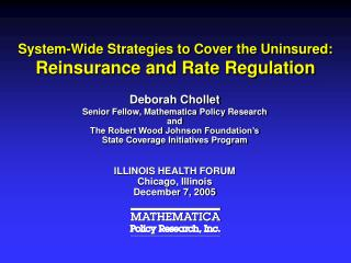 System-Wide Strategies to Cover the Uninsured: Reinsurance and Rate Regulation