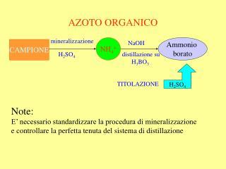 AZOTO ORGANICO