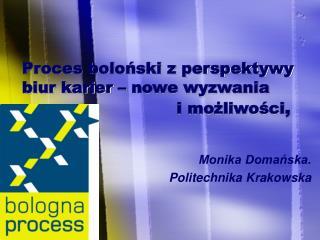 Monika Domańska. Politechnika Krakowska