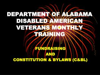 DEPARTMENT OF ALABAMA DISABLED AMERICAN VETERANS MONTHLY TRAINING