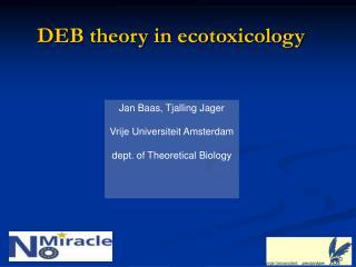 DEB theory in ecotoxicology