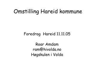 Omstilling Hareid kommune