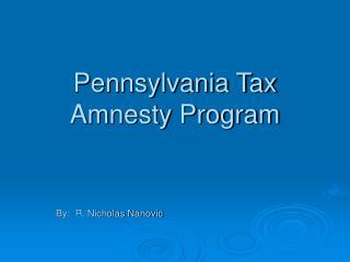 Pennsylvania Tax Amnesty Program
