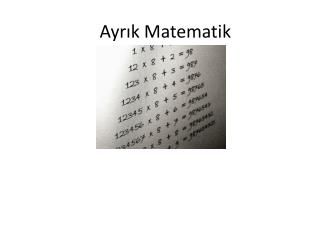 Ayrık Matematik