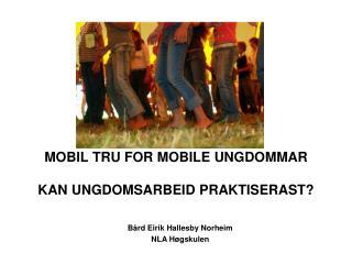 MOBIL TRU FOR MOBILE UNGDOMMAR KAN UNGDOMSARBEID PRAKTISERAST?
