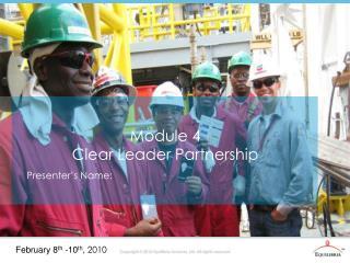 Module 4 Clear Leader Partnership