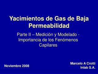 Yacimientos de Gas de Baja Permeabilidad