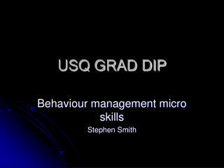 USQ GRAD DIP
