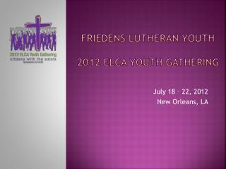 FRIEDENS LUTHERAN YOUTH 2012 ELCA Youth gathering