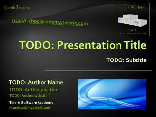 TODO: Presentation Title