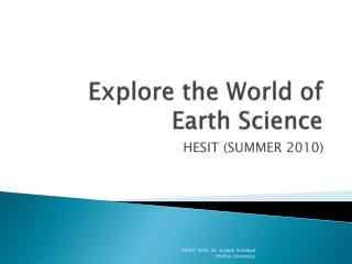 Explore the World of Earth Science