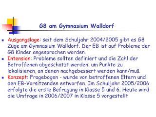 G8 am Gymnasium Walldorf