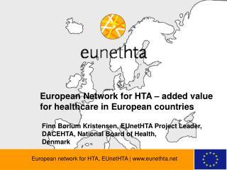 European network for HTA, EUnetHTA | eunethta