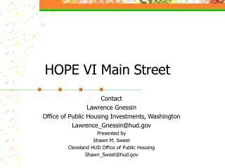 HOPE VI Main Street