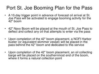 Port St. Joe Booming Plan for the Pass