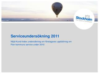 Serviceunders�kning 2011