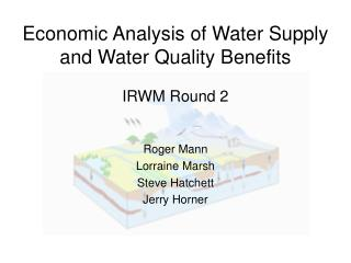 Economic Analysis of Water Supply and Water Quality Benefits