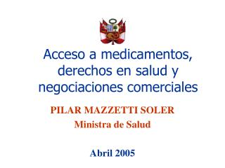 Acceso a medicamentos, derechos en salud y negociaciones comerciales