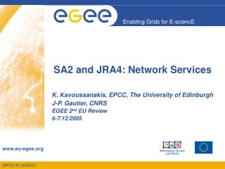 SA2 and JRA4: Network Services