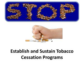 Establish and Sustain Tobacco Cessation Programs