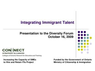 Integrating Immigrant Talent