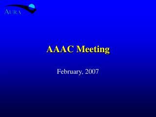 AAAC Meeting
