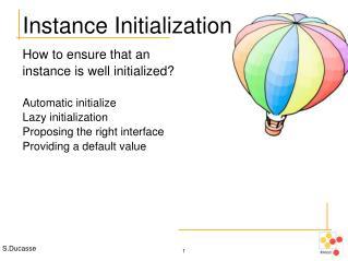 Instance Initialization