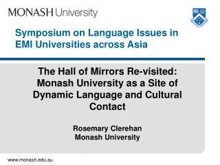 Symposium on Language Issues in EMI Universities across Asia