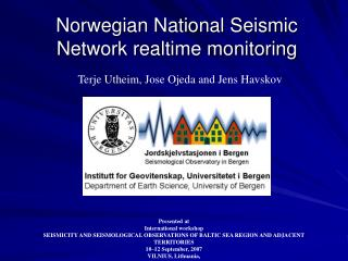 Norwegian National Seismic Network realtime monitoring