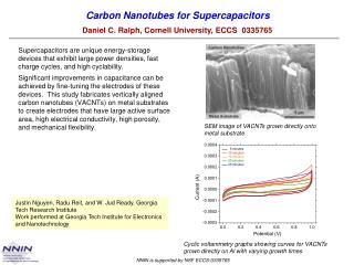 Carbon Nanotubes for  Supercapacitors