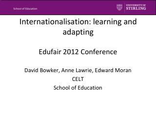 Internationalisation: learning and adapting
