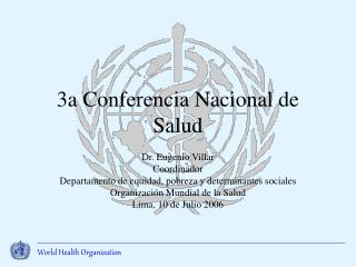 3a Conferencia Nacional de Salud