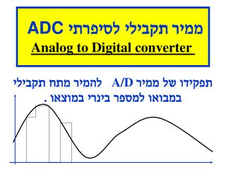 ממיר תקבילי לסיפרתי  ADC Analog to Digital converter