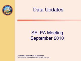 SELPA Meeting  September 2010