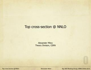 Top cross-section @ NNLO