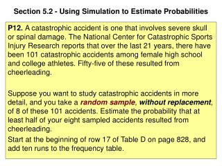 Section 5.2 - Using Simulation to Estimate Probabilities