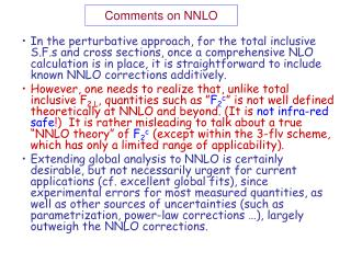 Comments on NNLO