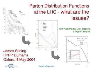 Parton Distribution Functions  at the LHC - what are the issues?