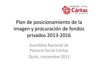 Plan de posicionamiento de la imagen y procuración de fondos privados 2013-2016